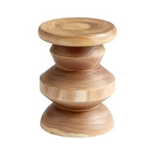 Cyan Design Summer Swirl Stool Summer Swirl 18 Inch Tall Wood Stool - walnut - N/A