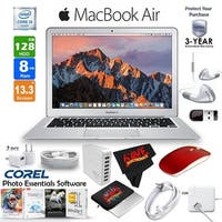 "Apple 13.3"" MacBook Air 128GB SSD + Red 2.4 GHz Slim Optical Wireless Bluetooth Mouse + 3-Year Extended Warranty Bundle"