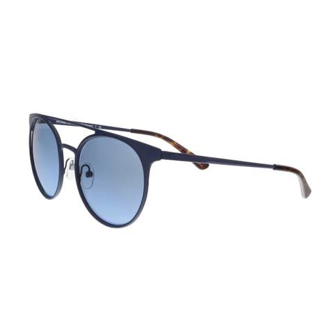 a427eeb53169 Michael Kors MK1030 12178F Matte Navy Round Sunglasses - 52-19-140