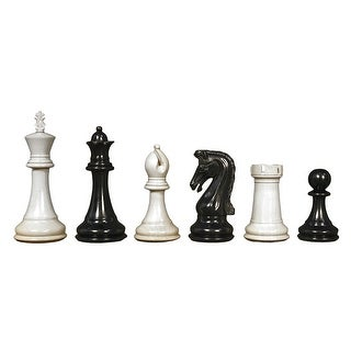 Chetak Ebony Chess Pieces - Multicolored