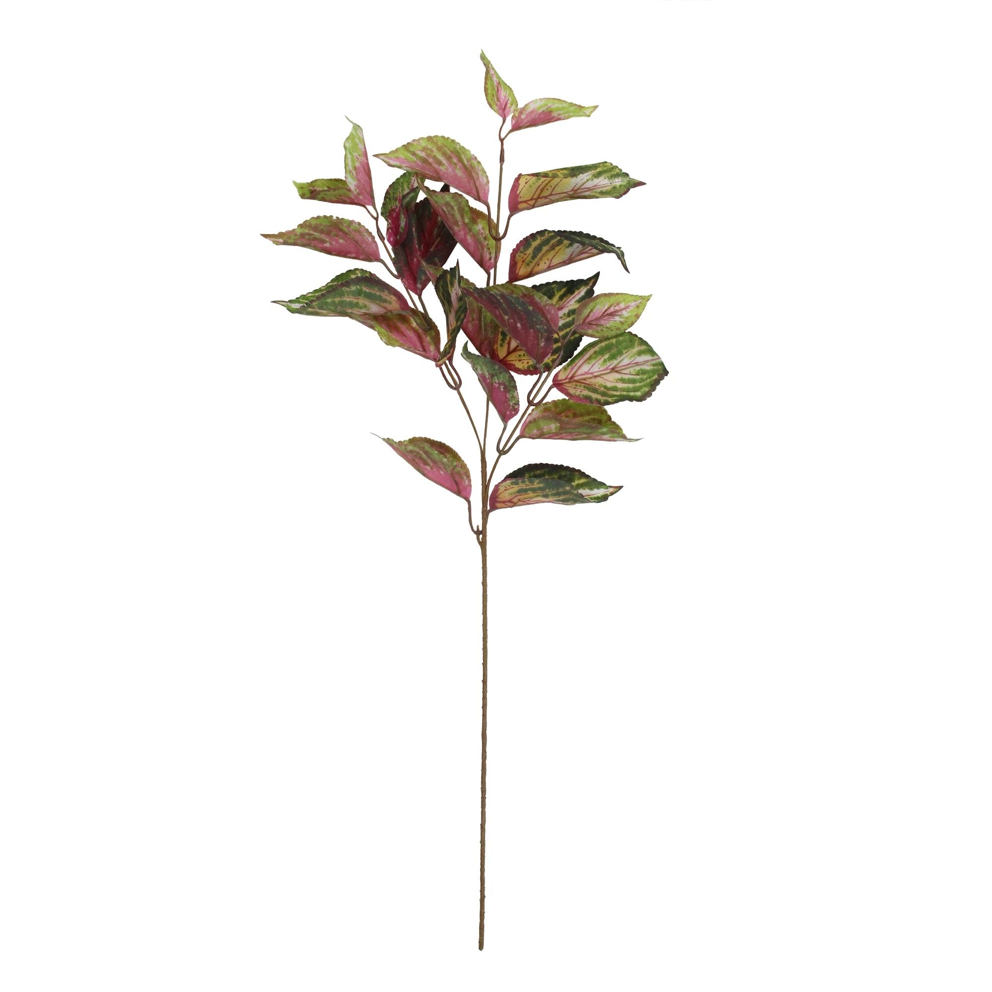 30 Purple And Green Ornamental Coleus Realistic Feel Leaf Spray - N/A