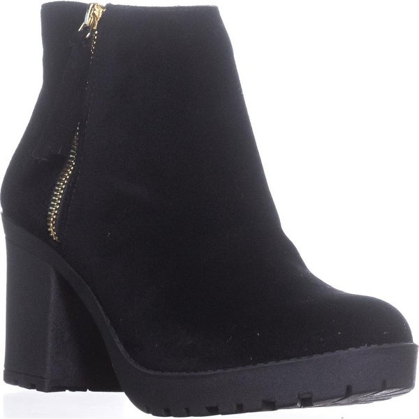 MG35 Mellice Lug Sole Ankle Boots, Black - 9 us