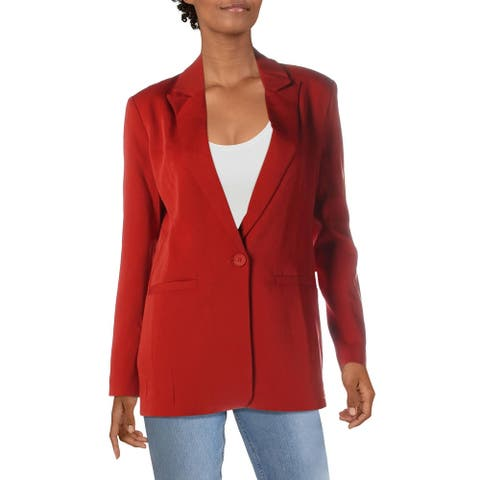 Endless Rose Womens One-Button Blazer Woven Tailored