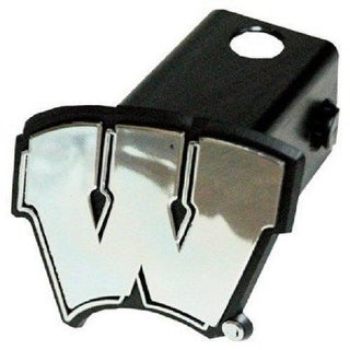 Wisconsin Badgers Trailer Hitch Cover Class III 2 Film Black