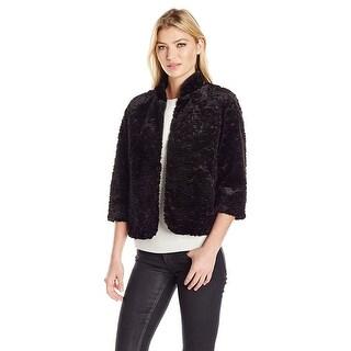 Laundry by Shelli Segal Faux Fur 3/4 Sleeve Blazer Jacket - 12