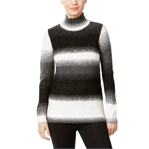 G.H. Bass & Co. Womens Striped Pullover Sweater, black, X-Small