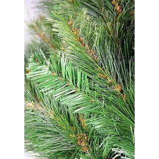 "30"" Pre-Lit Jack Pine Artificial Christmas Wreath - Clear Lights"