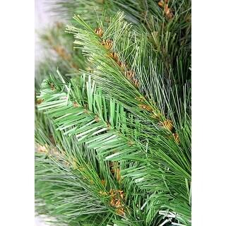 "36"" Pre-Lit Jack Pine Artificial Christmas Wreath - Clear Lights"