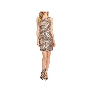 Belle Badgley Mischka Womens Jamielynn Cocktail Dress Sleeveless Mini