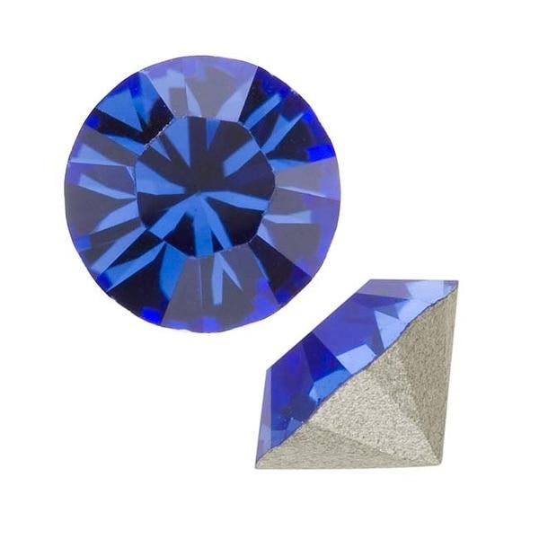Swarovski Crystal, 1088 Xirius Round Stone Chatons pp24, 36 Pieces, Sapphire