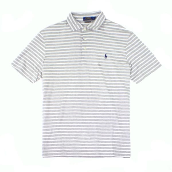 c0caf4bea1 Shop Polo Ralph Lauren NEW Gray Mens Size 2XL Striped Classic-Fit Polo Shirt  - Free Shipping Today - Overstock.com - 19663847