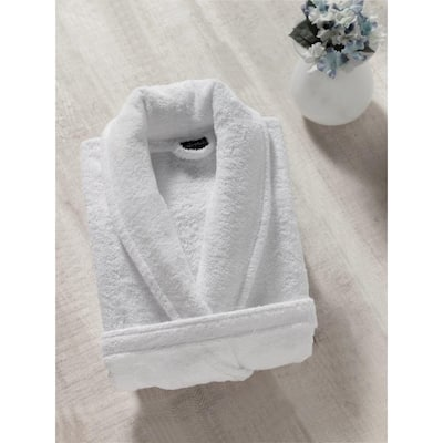 Classic Turkish Towels Shawl Collar Cotton Terry Cloth Bath Robe for Women and Men