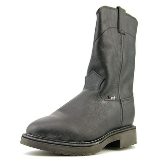 Justin Boots Aged Bark 2E Round Toe Leather Work Boot