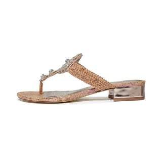 Adrianna Papell Womens DASHING Canvas Open Toe Casual Slide