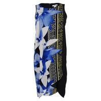 Bar III Women's Sleeveless Floral Print Dress - black combo - xs