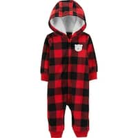 Carter's Baby Boys' Fleece Buffalo Check Jumper - Red