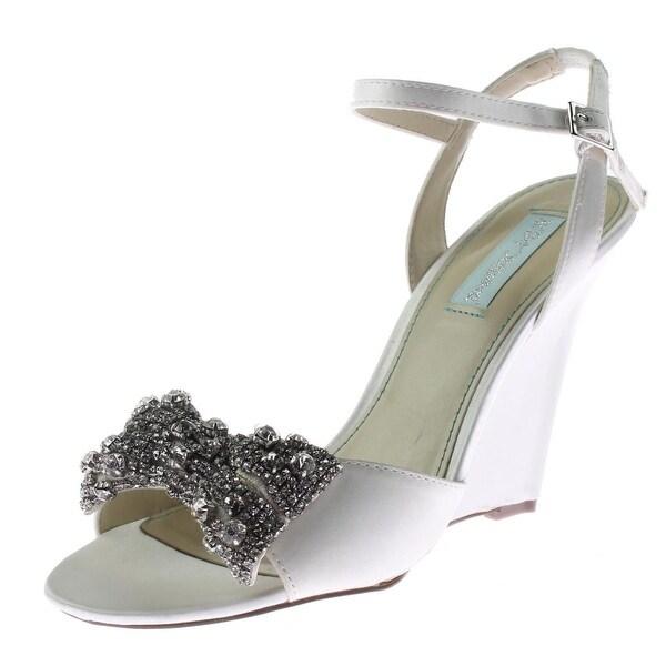 Betsey Johnson Womens Dress Dress Sandals Satin Rhinestone - 8.5 medium (b,m)