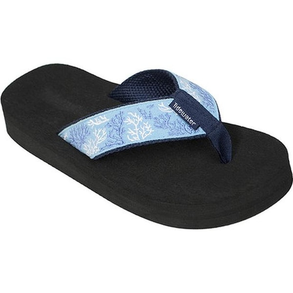 261004ed7 Shop Tidewater Sandals Women s Coral Flip Flop Blue White - Free Shipping  On Orders Over  45 - Overstock.com - 15060416