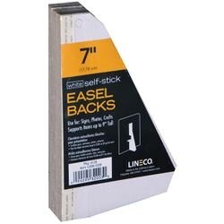"White Single-Wing 7"" - Self-Stick Chipboard Easel Backs 25/Pkg"