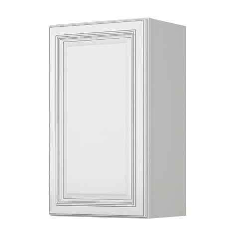 "Sunny Wood SLW1830-A Sanibel 18"" x 30"" Single Door Wall Cabinet - off white with charcoal glaze - N/A"