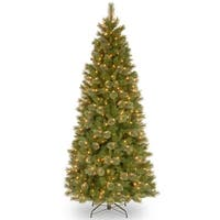 7.5' Pre-Lit Slim Tacoma Pine Artificial Christmas Tree - Clear Lights