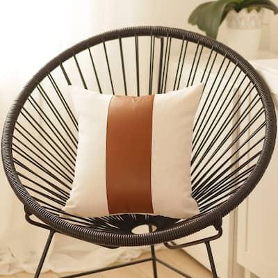 Carson Carrington Hoga Faux Leather Pillow Cover
