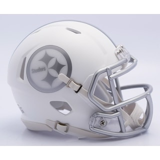 Pittsburgh Steelers Riddell Matte White ICE Alternate Speed Mini Football Helmet