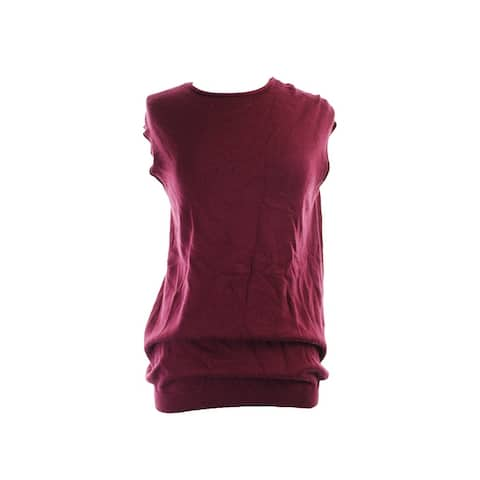 Alfani Burgundy Cap-Sleeve Sweater L