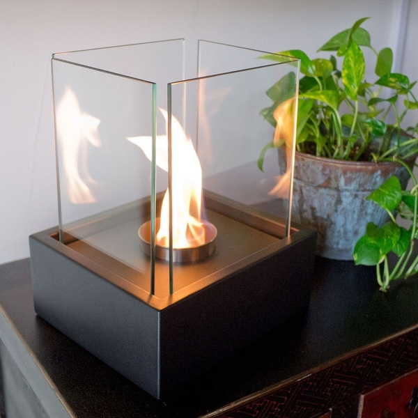 Nu-Flame NF-T2LAA LAMPADA table Top Ethanol Fireplace - Black