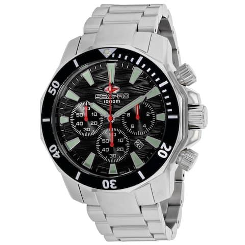 Seapro Men's Scuba Dragon Diver Limited Edition 1000 Meters Black Dial Watch - SP8340