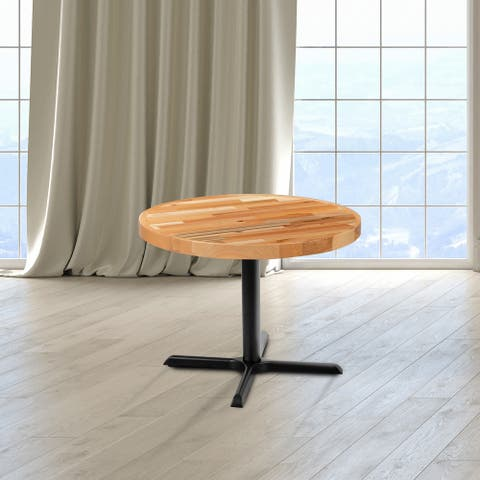 Round Butcher Block Style Table Top - Restaurant Table Top