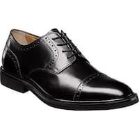 Florsheim Men's Hamilton Cap Toe Oxford Black Smooth Leather