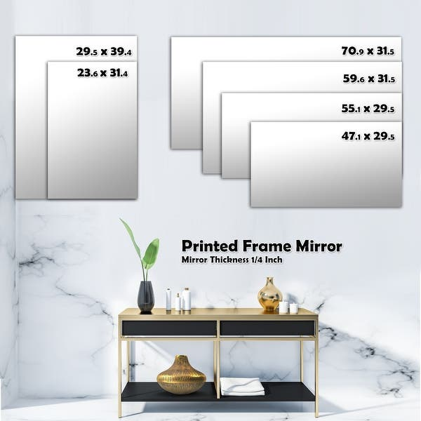 Designart Texture In A Flower Design Bohemian And Eclectic Mirror Vanity Mirror Overstock 28558214