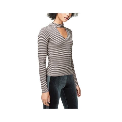 Aeropostale Womens Keyhole Basic T-Shirt, Brown,