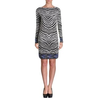 MICHAEL Michael Kors Womens Wear to Work Dress Animal Print Long Sleeves