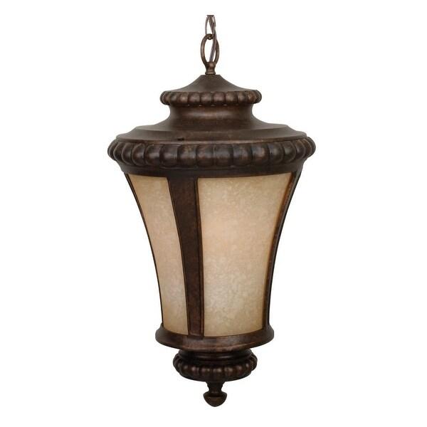 """Craftmade Z1221 Prescott 1-Light Lantern Outdoor Pendant - 12"""" Wide - Peruvian Bronze - N/A"""