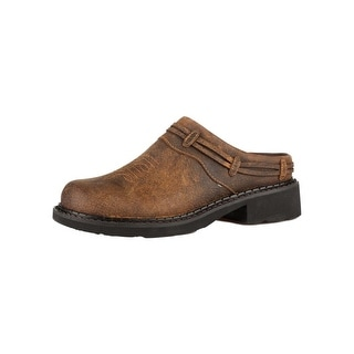 Roper Western Shoes Womens Mule Leather Brown 09-021-5411-0451 BR