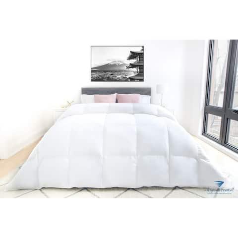 Highland Feather 800 Loft European White Down Granoble Duvet/Comforter 500TC Casing with Corner Ties