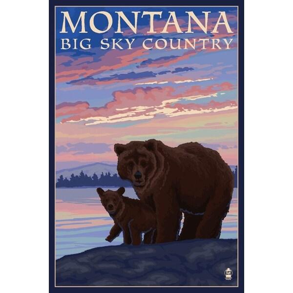 MT - Big Sky Country - Bear & Cub - LP Artwork (100% Cotton Towel Absorbent)
