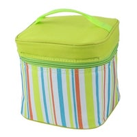 Travel Stripes Thermal Cooler Insulated Lunch Box Picnic Bag Tote Pouch Green