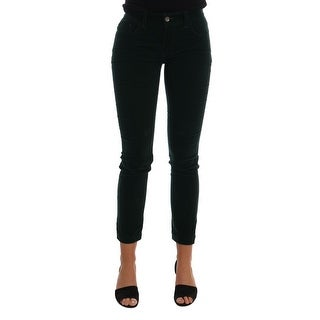 Dolce & Gabbana Green Corduroy Cotton Stretch Jeans