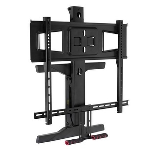 Mount-It! Fireplace TV Mount, Full Motion Pull Down Mantel TV Mounting Bracket with Height Adjustment - black