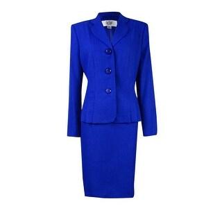 Le Suit Women's Petite Yatch Club Pleated Skirt Suit - 12P