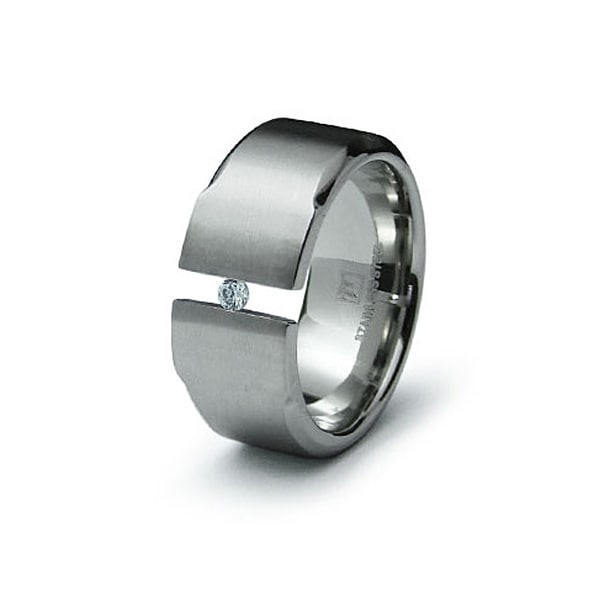 Stainless Steel Ring with CZ (Sizes 9-13)