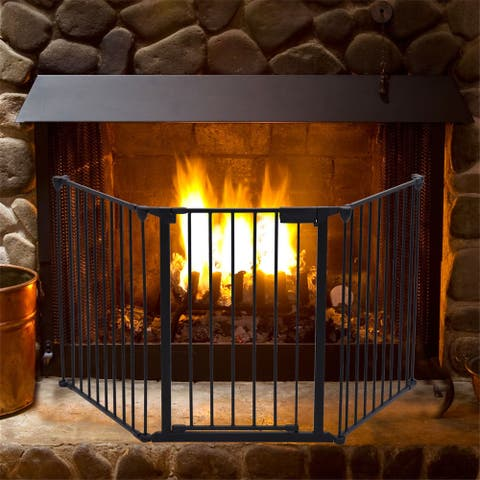 Baby Safety Gate Five Wrought Iron Fences Fireplace Fences