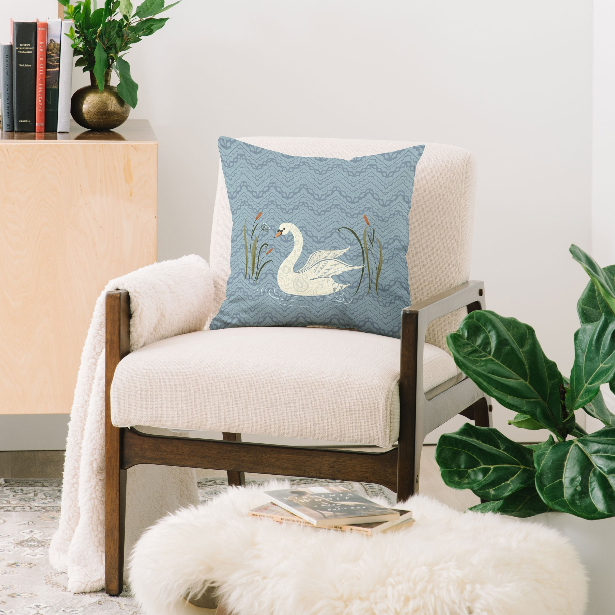 Pimlada Phuapradit Winter Swan Throw Pillow Overstock 14606735