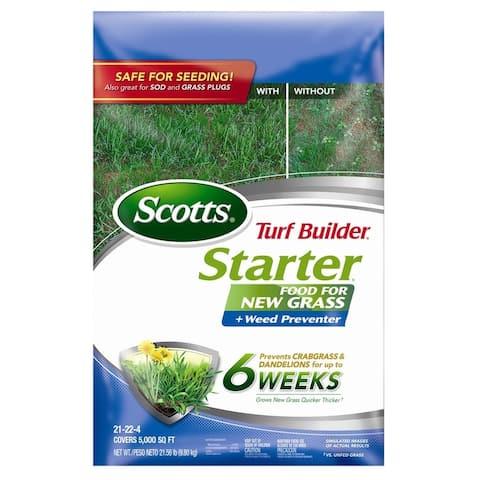 Scotts 23200 Turf Builder Starter Fertilizer Plus Weed Preventer, 5000 sq ft