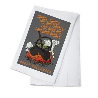 Double Double Toil & Trouble Halloween LP Artwork (100% Cotton Towel Absorbent)