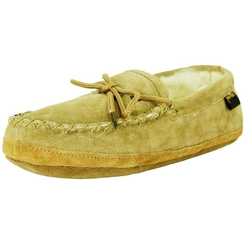 f8ad4ff3621 Shop Old Friend Slippers Mens Sheepskin Soft Sole Moccasin Chestnut - Free  Shipping Today - Overstock - 15381652