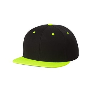 d5e077e7398 Shop Classic Flat Bill Snapback Cap - Black  Neon Green - Adjustable - Free  Shipping On Orders Over  45 - Overstock - 16247233
